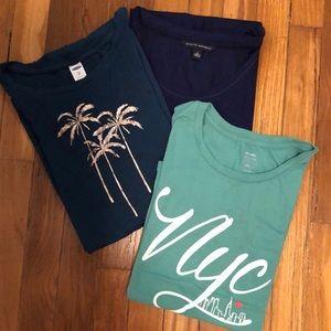 Bundle | 3 T-shirts Banana Republic & Old Navy